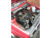 Volkswagen Golf MK2 1.6 driver engine/gearbox/driveshafts and ancillaries