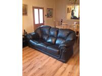 2 x 3 seater Italian leather sofas