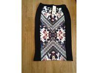 Miss selfridge midi skirt size 10