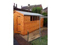 16x8 garden sheds/work shop