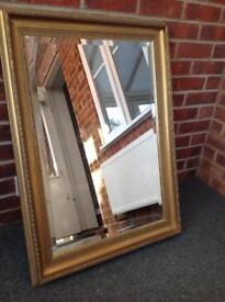 Large gold vintage framed mirror (collection only)
