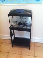 10 gallon aquarium avec meuble