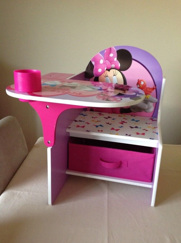 Minnie Mouse children's desk seat chair table