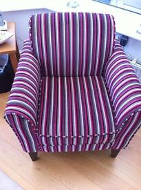 Next Fabric Striped Armchair