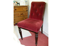 Antique Victorian Nursing Chair