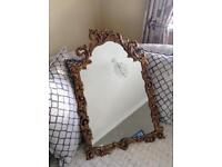 Large Ornate Vintage Gold Mirror