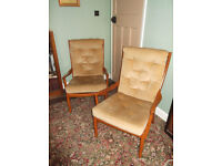 Classic vintage Parker Knoll Chairs x 2
