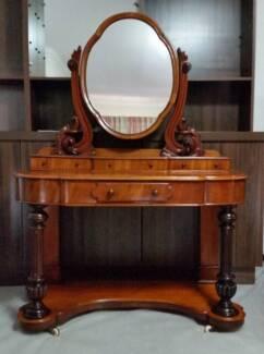 Victorian Mahogany 4 Drawer Dressing Table