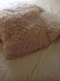 Four lovely fluffy cushions and covers