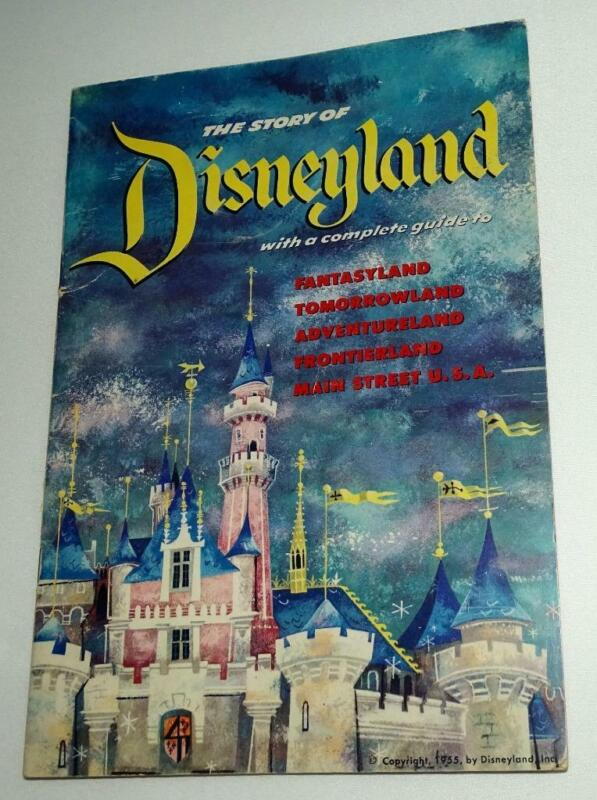 """DISNEYLAND 1955 """"OFFICIAL"""" OPENING YEAR """"GUIDE BOOK""""-SPECIAL...DISNEY YEAR!!-EX!"""