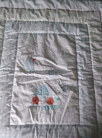 Mothercare little beep beep nursery bedding set