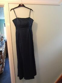Evening dress size 12 electric blue