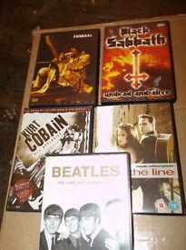 Collection of Music DVD's £1 Each