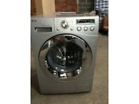 8KG LG CHROME DESIGN DIRECT DRIVE WASHING MACHINE, LED DISPLAY,EXCELLENT COND(4 months warranty)