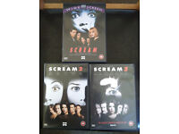 DVDs: Scream / Scream 2 / Scream 3