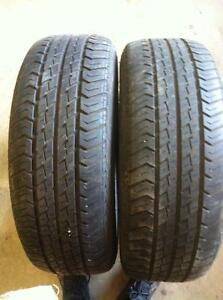 2 - Motomaster AW All Season Tires with Good Tread - 185/65 R14