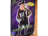 2-piece ribbon witch costume with hate size m/l