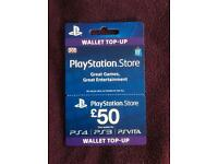 £50 PSN Wallet top up, unused and ready to be credited to your PSN Account