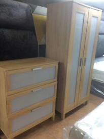 Wardrobe and chest of draw