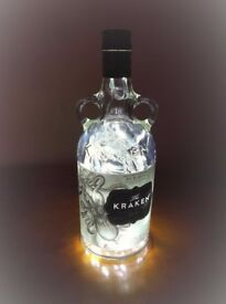 Unique Upcycled 70cl Funky Spirit Bottle Lamps ~ Using 40 New LED Lights ~ Ideal Christmas Gift etc.