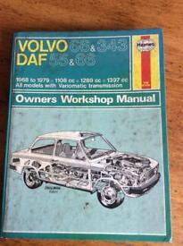 Haynes workshop manual for Volvo 66 &343 DAF 55&66