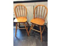2x IKEA children's high backed chairs
