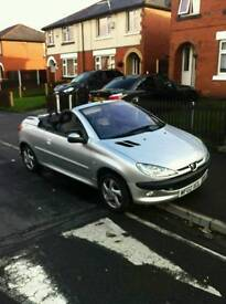 Peugeot 206 need gone!! convertible ecellent conditikn 2002