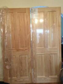Howdens 4 panel, clear pine internal doors x2 for £50