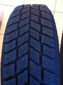 "4 - Toyota Echo 14"" Steel Rims (4X100) with Very Good Hankook I*Pike Snow Tires - 175/65 R14"