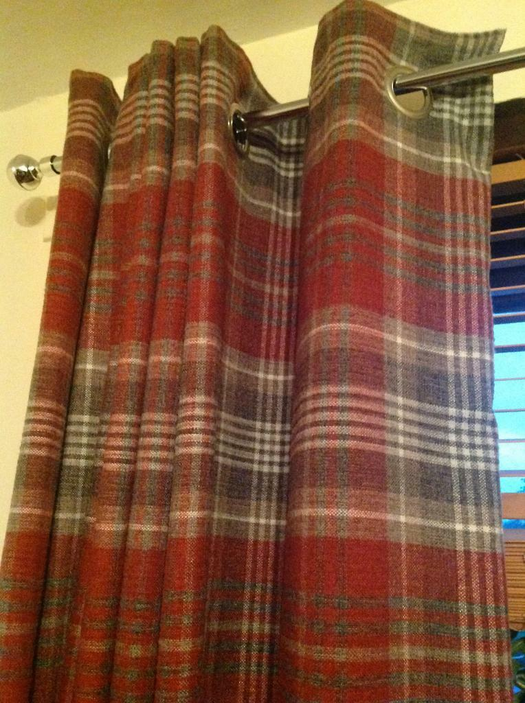 Next Tartan Checked Eyelet Curtains In Dundee Gumtree