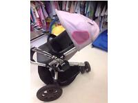 Eye Catching Quinny Buzz 3 Pram Pushchair Stroller Limited Edition Pink & grey