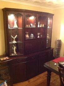 Display unit with draws, drinks cabinet, and cupboards