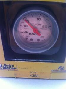 AUTO METER BOOST GAGE NEW STILL IN THE BOX