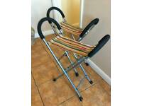 Joules fold up chairs, as new condition.