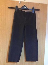 6 X boys grey/charcoal school trousers - age 6 from TU - good condition, BARGAIN at £4!
