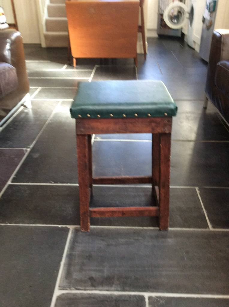 Small leather stool