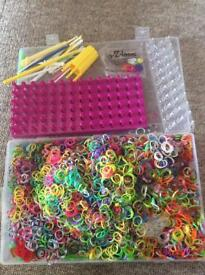 Loom bands s clips looms hooks charms Huge collection!