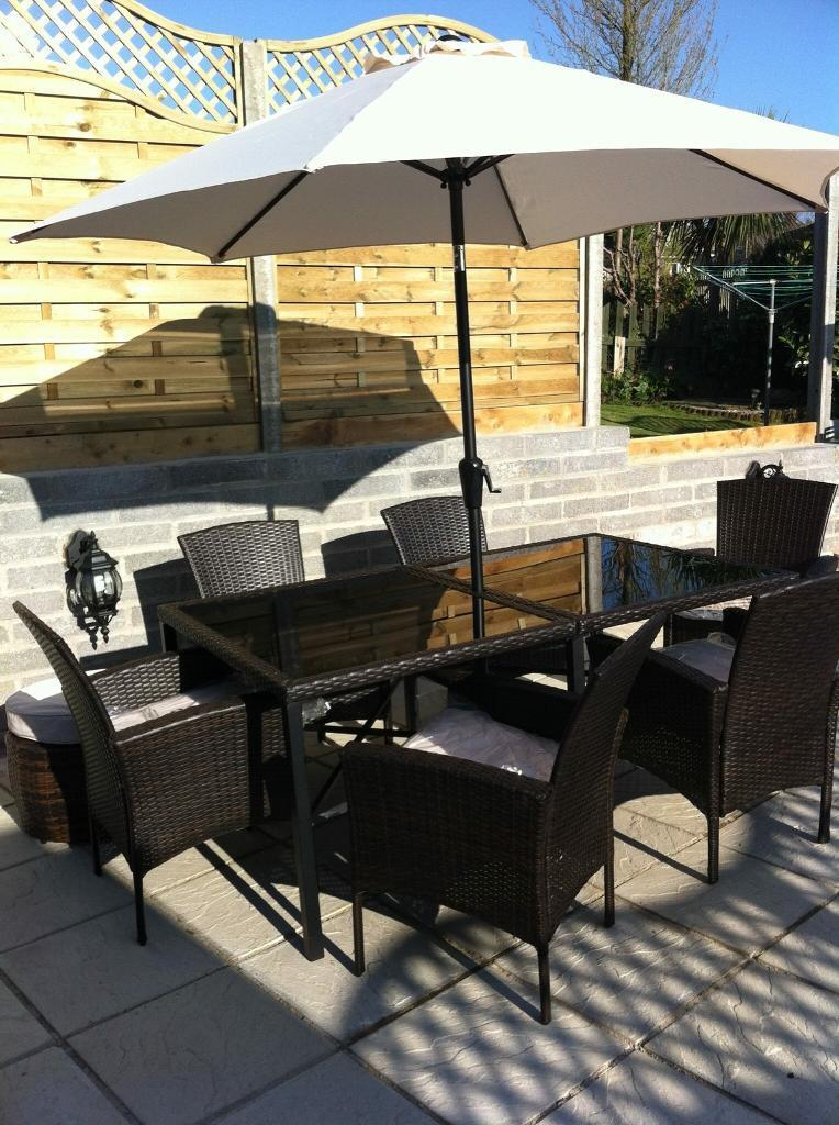 large garden table and chairs - Garden Furniture Kings Lynn