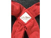 Close baby carrier. Modelled pic shows example, not actual carrier.