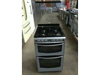 New Stoves Silver A+ Class 60cm Gas Cooker With Double Electric Oven