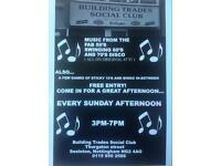 Building trades Social club Sunday Disco
