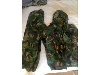 Army Gortex Waterproof genuine sets; jacket and trousers.