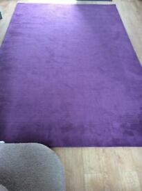 John Lewis Perth pure wool rug in damson , 300 X 200 cms