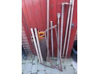 Varierty of old garden tools