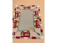 Boys rug with fire engines