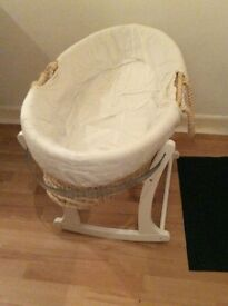 Mother Care Moses Basket with Rocking Stand free delivery in kent