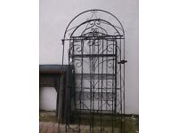 ARCH GATES, SETS, SINGLES, IN BLACK WROUGHT IRON, £10- £40