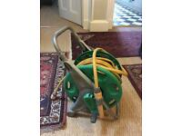 20 -25 m Garden hose, hose cart, hose connector and hose lock adjustable nozzle