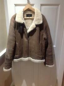 CROMBIE SHEARLING SUEDE LEATHER COAT ( JAKET )