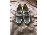 Gucci grey loafers